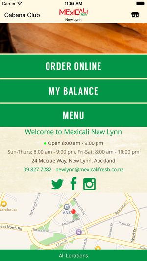 Second screenshot of the Mexicali Fresh iOS App